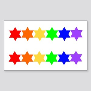 Star of David 2 for 1 Rectangle Sticker