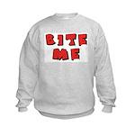 Bite Me! design Kids Sweatshirt