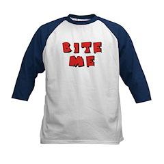 Bite Me! design Kids Baseball Jersey