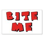 Bite Me! design Rectangle Sticker