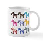 9 Dala Horses Mugs