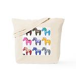 9 Dala Horses Tote Bag