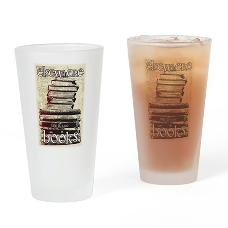 Elsewhere Books Drinking Glass By Betterw2