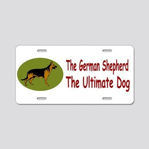 GSD Ultimate Green Oval Aluminum License Plate