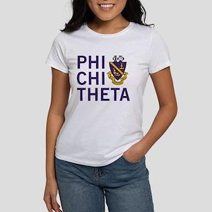 Phi Chi Theta Crest Women's Classic White T-Shirt