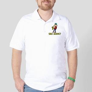 Sax Addict Saxaphone Shirt Golf Shirt