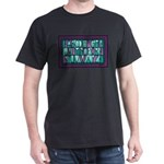 Avignon ABC Stained Glass Black T-Shirt