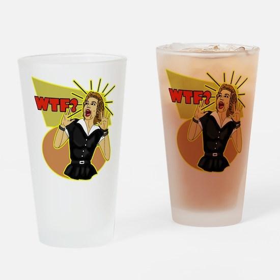 WTF? 50's Retro Humor Drinking Glass