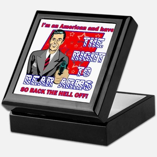 Right to bear arms Retro humor Keepsake Box
