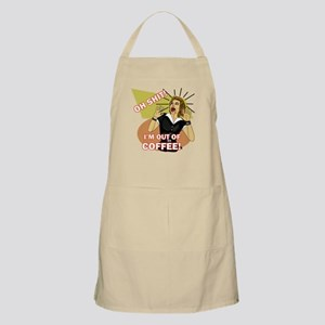 Oh @#$%! I'm out of Coffee Retro humor Apron