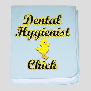 Dental Hygienist Chick baby blanket