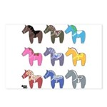 9 Dala Horses Postcards (Package of 8)