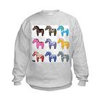 9 Dala Horses Sweatshirt