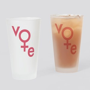 Vote Gender Symbol Drinking Glass