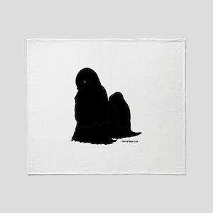 Shih Tzu Silhouette Throw Blanket