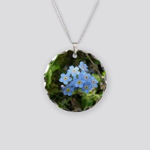 Forget-Me-Not #01 Necklace Circle Charm