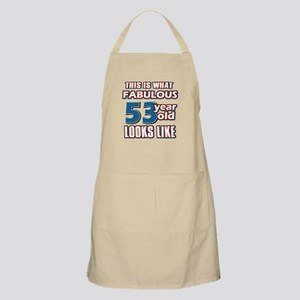 Cool 53 year old birthday designs Apron