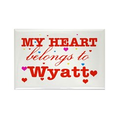 I love Wyatt Rectangle Magnet (100 pack)