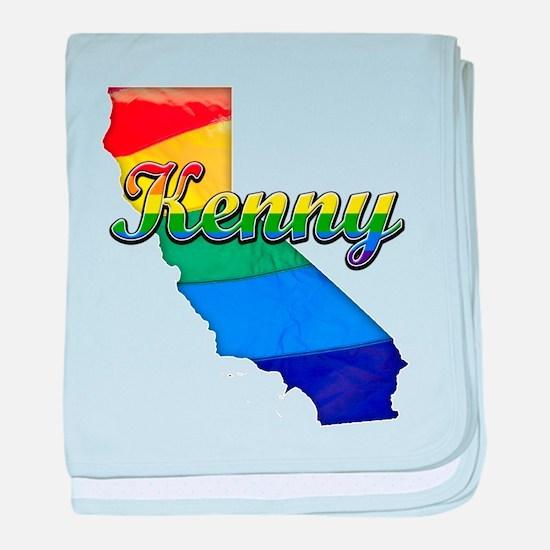 Kenny, California. Gay Pride baby blanket