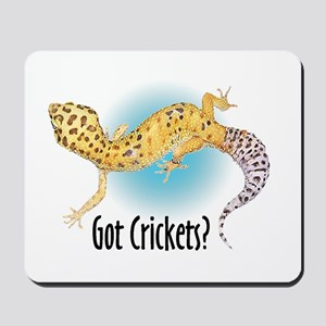 Gecko Got Crickets Mousepad