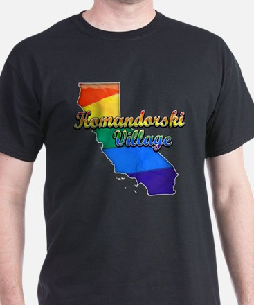 Komandorski Village, California. Gay Pride T-Shirt
