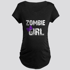 Zombie Girl Maternity Dark T-Shirt