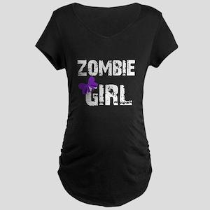 Zombie Girl Maternity Dark T-Shirt