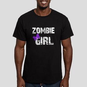 Zombie Girl Men's Fitted T-Shirt (dark)
