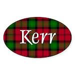Tartan - Kerr Sticker (Oval)