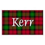 Tartan - Kerr Sticker (Rectangle 10 pk)