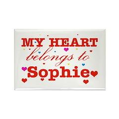 I love Sophie Rectangle Magnet (10 pack)