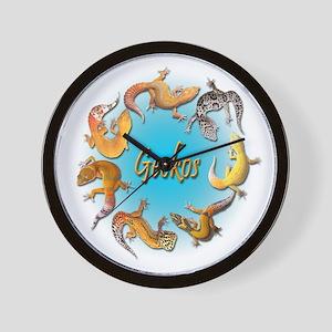 Circle of Geckos Wall Clock