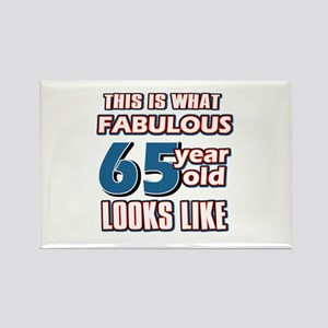 Cool 65 year old birthday designs Rectangle Magnet