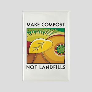 Make Compost, Not Landfills Rectangle Magnet