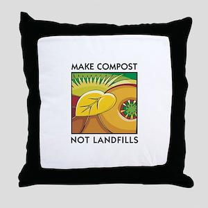 Make Compost, Not Landfills Throw Pillow