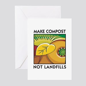 Make Compost, Not Landfills Greeting Cards (Packag