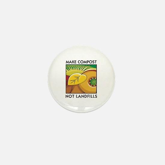Make Compost, Not Landfills Mini Button
