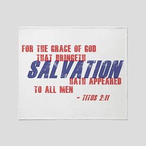 Titus 2:11 Throw Blanket