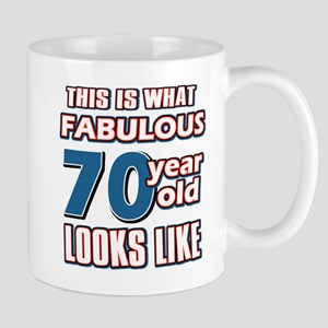 Cool 70 year old birthday designs Mug