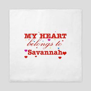 I love Savannah Queen Duvet
