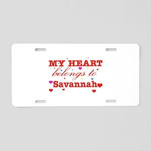 I love Savannah Aluminum License Plate