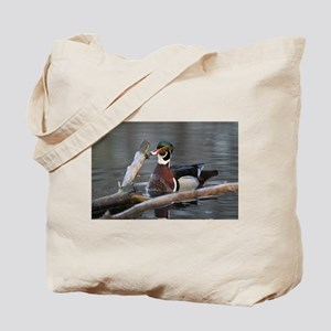Woodduck and Wood Tote Bag