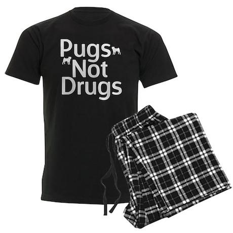 Pugs Not Drugs Men's Dark Pajamas