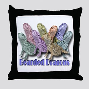 Bearded Dragon Colors Throw Pillow