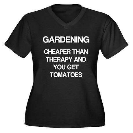 Gardening, You Get Tomatoes Women's Plus Size V-Ne