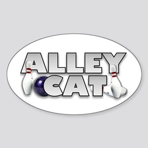 Alley Cat Bowling Oval Sticker