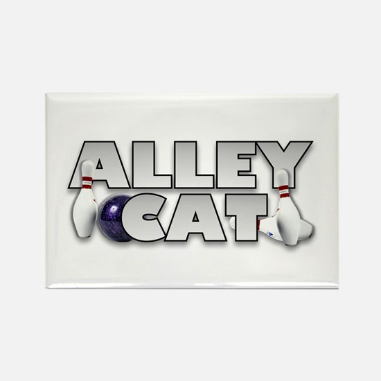 Alley Cat Bowling Rectangle Magnet