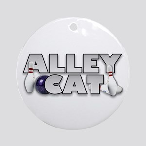Alley Cat Bowling Ornament (Round)