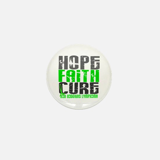 Hope Faith Cure NH Lymphoma Mini Button