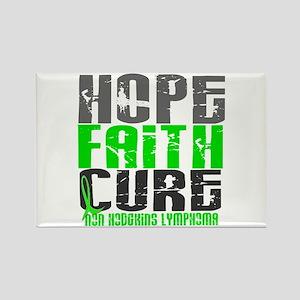 Hope Faith Cure NH Lymphoma Rectangle Magnet